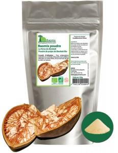 Baomix la poudre de pulpe de baobab biologique certifiée par Ecocert france